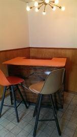 Retro Bar and Eames Barstools