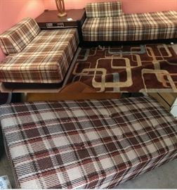 1970s Plaid Daybed