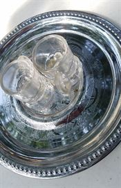 Cordial glass serving tray