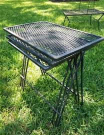 wrought iron MCM nesting tables