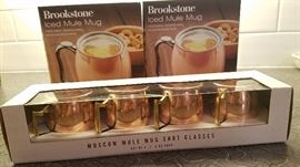 Frozen Moscow mule thermoses and shot glass set