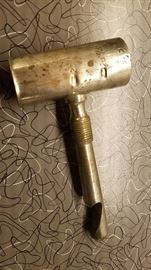 Vintage (1940's) jigger with bottle opener handle