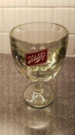 Vintage Schlitz beer goblet (heavy)