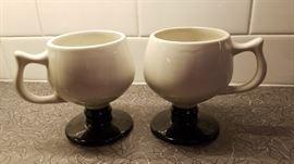 Hall ceramic Deco coffee mugs