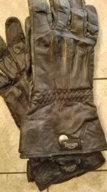 Triumph motorcycle leather gloves