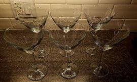 set of nice Large martini glasses