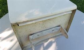 American Brand Vintage Metal kitchen cabinets (upper - built in paper towel dispenser)