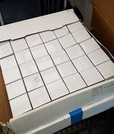 mini white square tile sheets