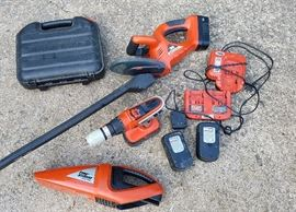 complete Black and Decker cordless tool set