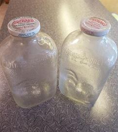 Vintage juice glass bottles