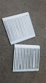 Steel vent grill covers from antique furnace(s)