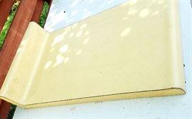yellow formica peninsula cabinet countertop