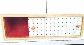 small case-study medicine cabinet/cubby