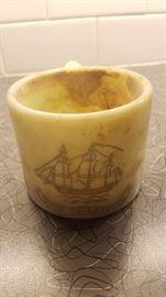 """""""Friendship Ship"""" Old Spice shaving soap mug"""