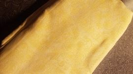 cheerful yellow table cloth 1960s