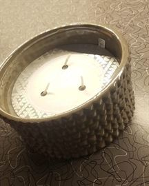 """large fashionable """"sea salt"""" candle. Many different candles available!"""