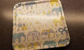 pop art elephant platter
