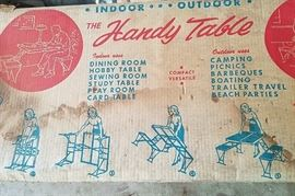 Very cool folding picnic table in original box