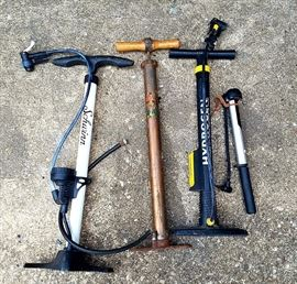 bicycle pump assortment (incl fame pump and vintage pump)