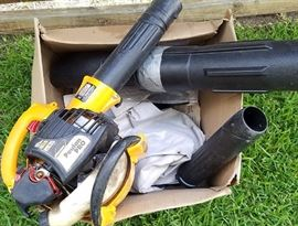 gas blower with vacuum mulching attachment