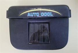 solar window fan for parked automobiles