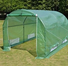portable 17' green house (disassembled)