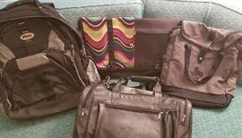 Backpack, handbag, and messenger bag assorment