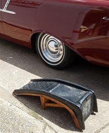 pair of metal car ramps