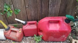 assortment of gas cans for sale