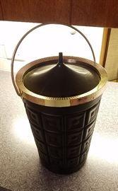 Liberace leather ice bucket (tall)
