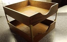 wooden in/out desk boxes