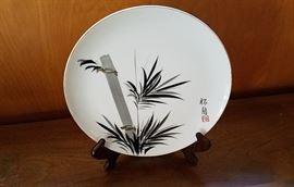 Hand painted Japanese china plate