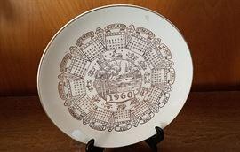 1960 Zodiac calendar plate