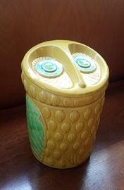 Ceramic owl cookie jar