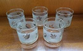 Silver leaf cocktail glasses