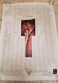 Huge Shakespeare poster with all of Macbeth play