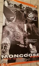 huge Fuzzy Hall mongoose bmx poster