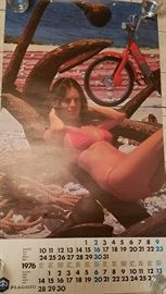 1976 Vespa moped calendar