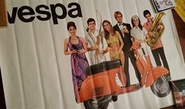 70s Vespa Rally scooter promo poster