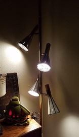 fantastic Danish pole lamp (and pirate ship TV lamp)