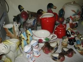 Interesting vintage ceramics, and pottery