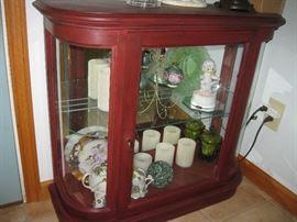 Hall way curio cabinet