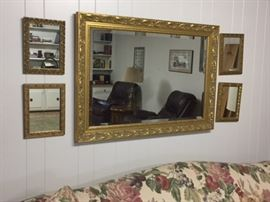 Wall of mirrors (priced individually)