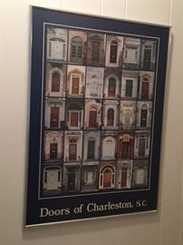 Doors of Charleston framed poster