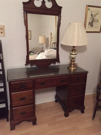 1950s Mahogany vanity -- has matching bench