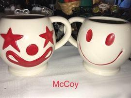 Super fun vintage McCoy mugs
