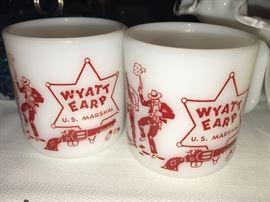 Wyatt Earp vintage mugs
