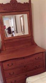 Gorgeous antique dresser with mirror