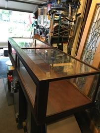Antique Hardware Store or Train Display Case