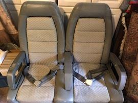 Set of British Airways Concorde seats
